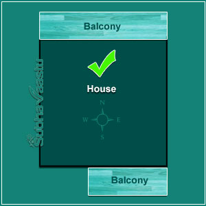 balcony colour as per vastu