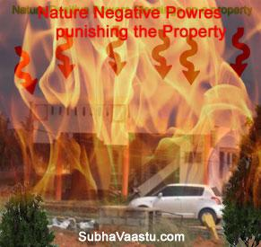 Vastu badly affected by Nature