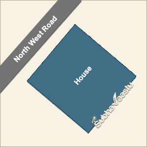 north west facing house vastu in hindi