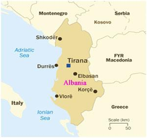 Albania Country map