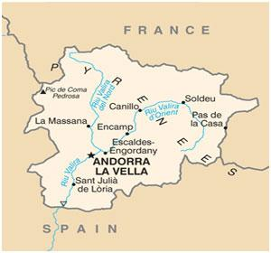 Andorra Country map