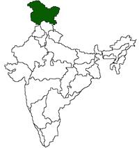 Jammu & Kashmir Location