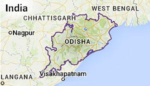Orissa State Map