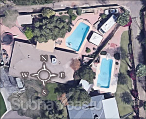 Pool placement vastu in Arizona